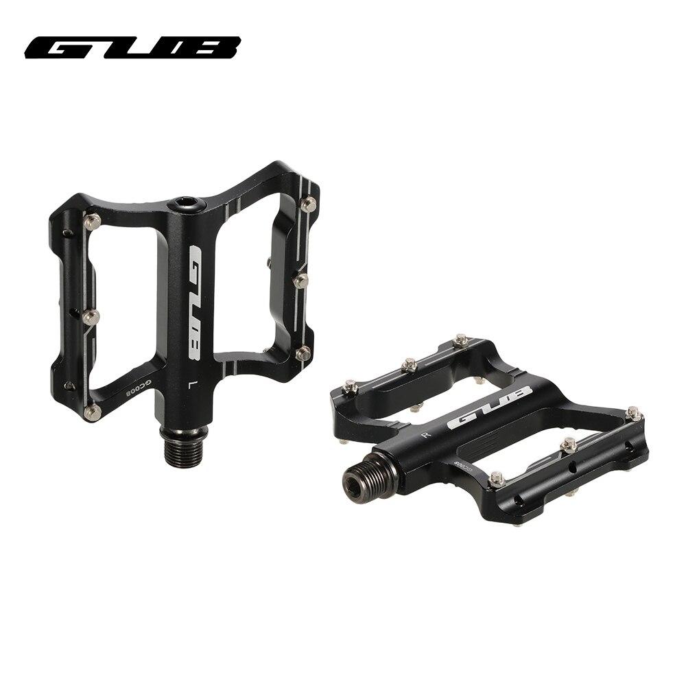GUB-pedales para bicicleta GC008, pedales antideslizantes y ultralivianos CNC, pedales para bicicletas de montaña