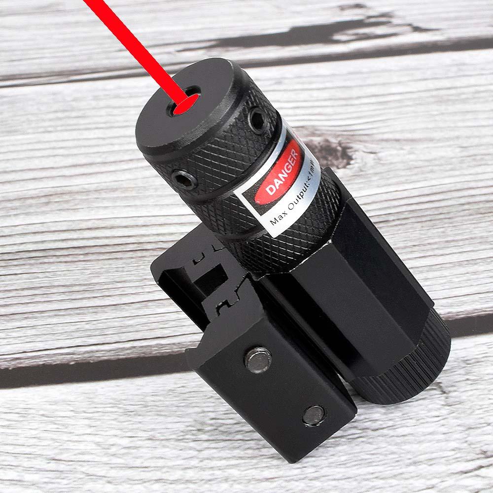 Powerful Mini Red Dot Laser Sight Scope Weaver 11/20m Picatinny Mount Set for Gun Rifle Pistol Shot