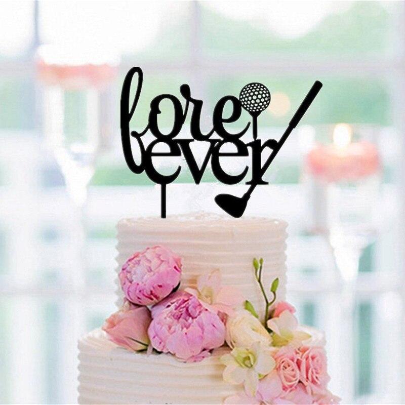 Topper de pastel de boda de Golf antes de siempre letra silueta pastel Toppers boda rústica Decoartoin pastel accesorio envío gratis
