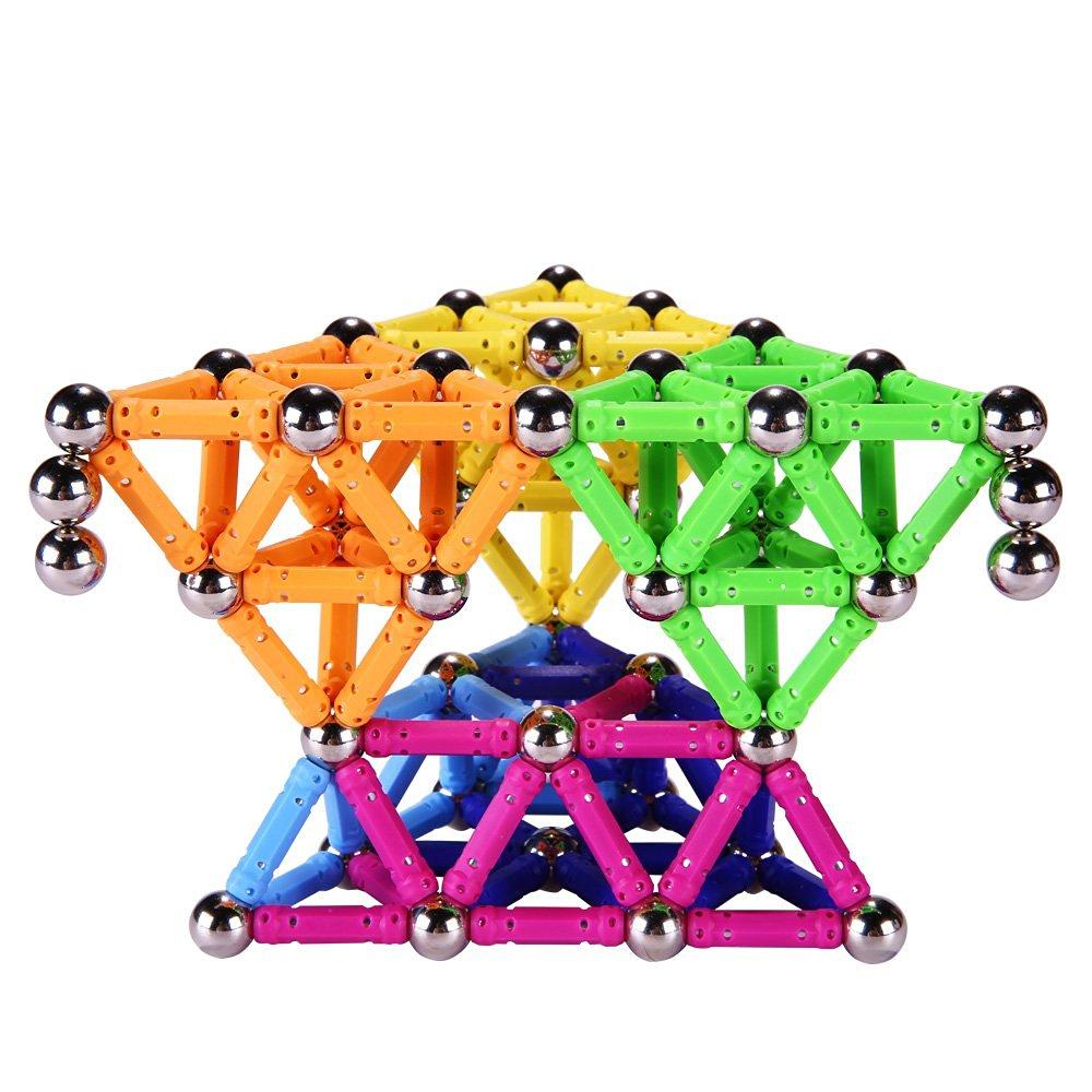 wholesale Magnet Toy Bars Magnetic Building Blocks Construction Toys For Children Designer Educational Toys For Kids Metal Balls