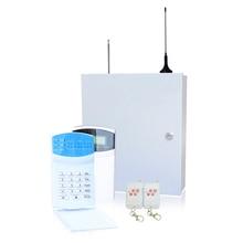 Système dalarme sans fil   Boîte en fer, système dalarme pour lindustrie, télécommande 433MHz, clavier Lcd, zones à 16 sans fil et 16 fils, GSM PSTN, double réseau, 1 ensemble