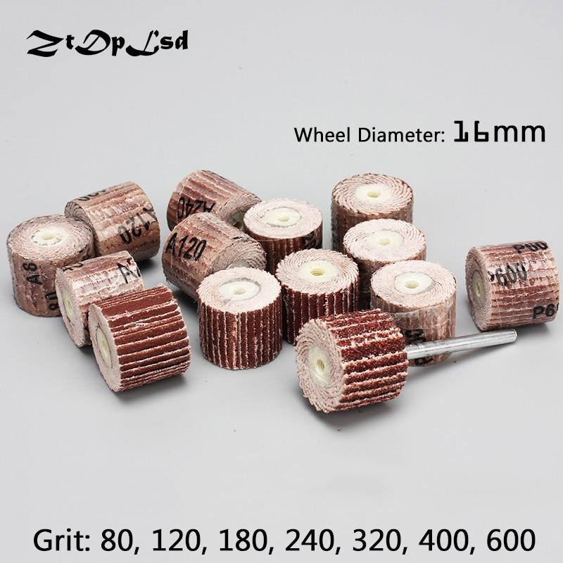 ZtDpLsd 20 Pçs/lote 16*14*3mm Lixar Disco Flap Flap Rodas de Moagem Escova de Areia Acessórios Ferramenta Rotativa para Ferramentas Abrasivas