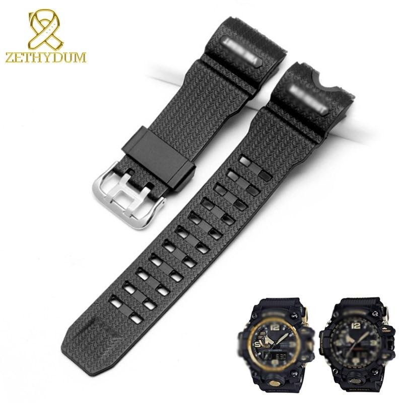 Reloj de resina Correa impermeable de caucho de silicona pulsera de reloj para casio GWG-1000GB reloj de pulsera para hombre pulsera Relojes deportivos banda