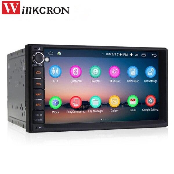 "2 Din reproductor de medios 7 ""IPS Touch coche Universal Radio Estéreo Quad Core Android 6,0 GPS Navigator unidad de cabeza volante"