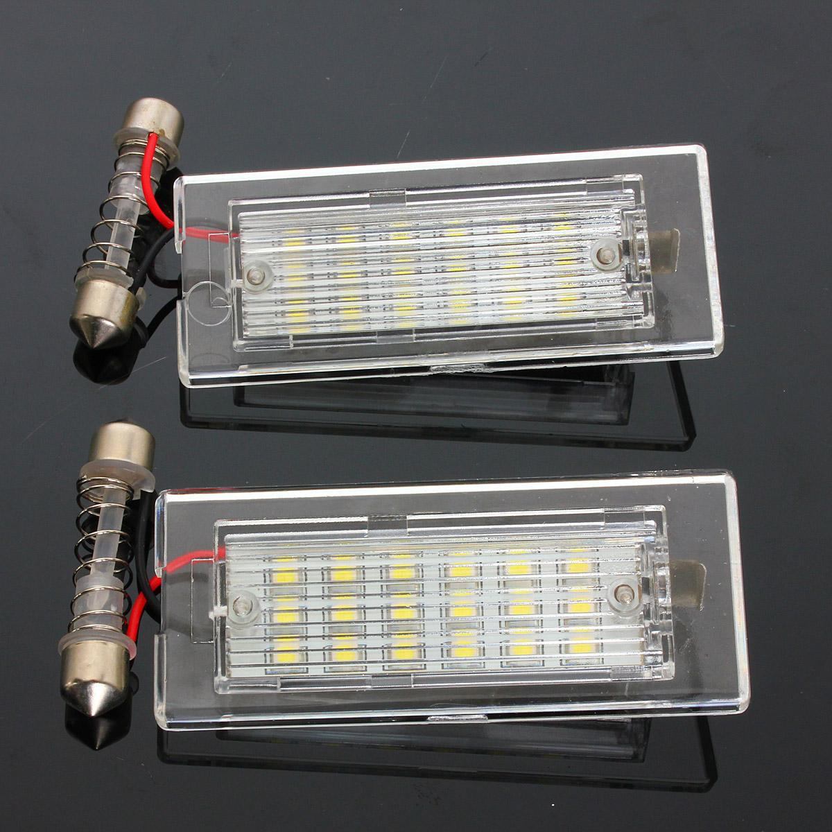 2X Lizenz Platte Licht 18 Led-lampen Auto Anzahl Platte Lampe Auto Styling Lichtquelle Für BMW X5 E53 X3 e83 2003 2004 2005 - 2010