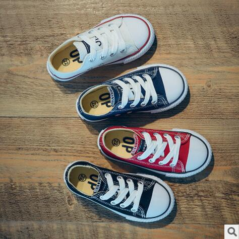 New Classic Children Canvas Shoes Girls Boys Kids Sneakers Tendon Casual Baby Running Shoes Solid Co