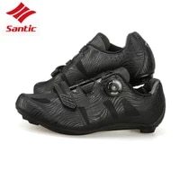 santic tpu breathable self locking athletic cycling road shoes black racing team bicycle shoes bike bicicle shoes