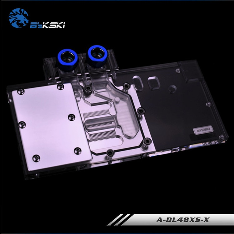 Bykski كتلة استخدام ل PowerColor-RX480-Red-Devil-8GB/RX 480 الأحمر التنين/AXRX 580 4GBD5-3DHDV2 النحاس GPU المبرد المياه كتلة RGB
