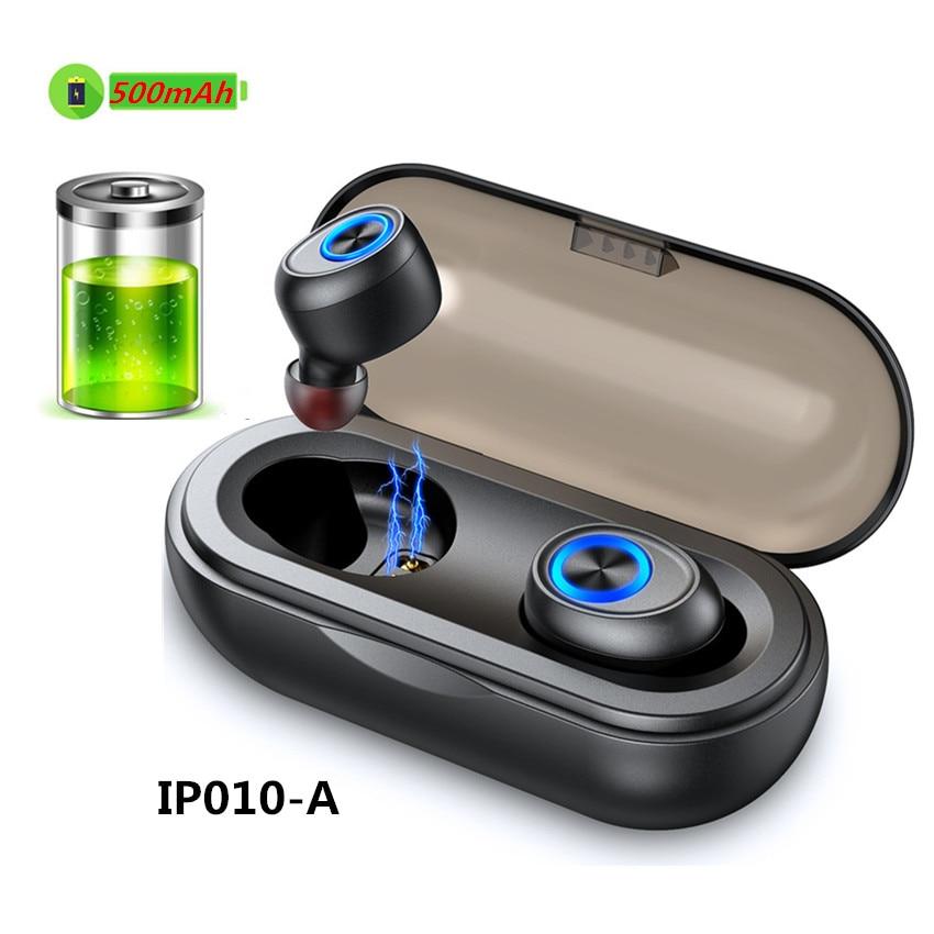 Askmeer IP010 TWS Wireless Earbuds V5.0 Bluetooth Earphone Headset Hifi Bass Earphones For Samsung iPhone Huawei Xiaomi Phone