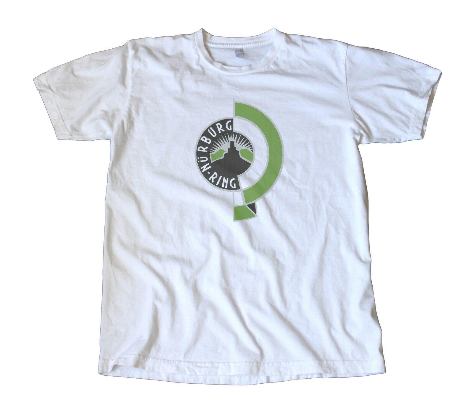 Vintage Nurburgring etiqueta camiseta Alemania Gran Premio de carreras de el infierno verde