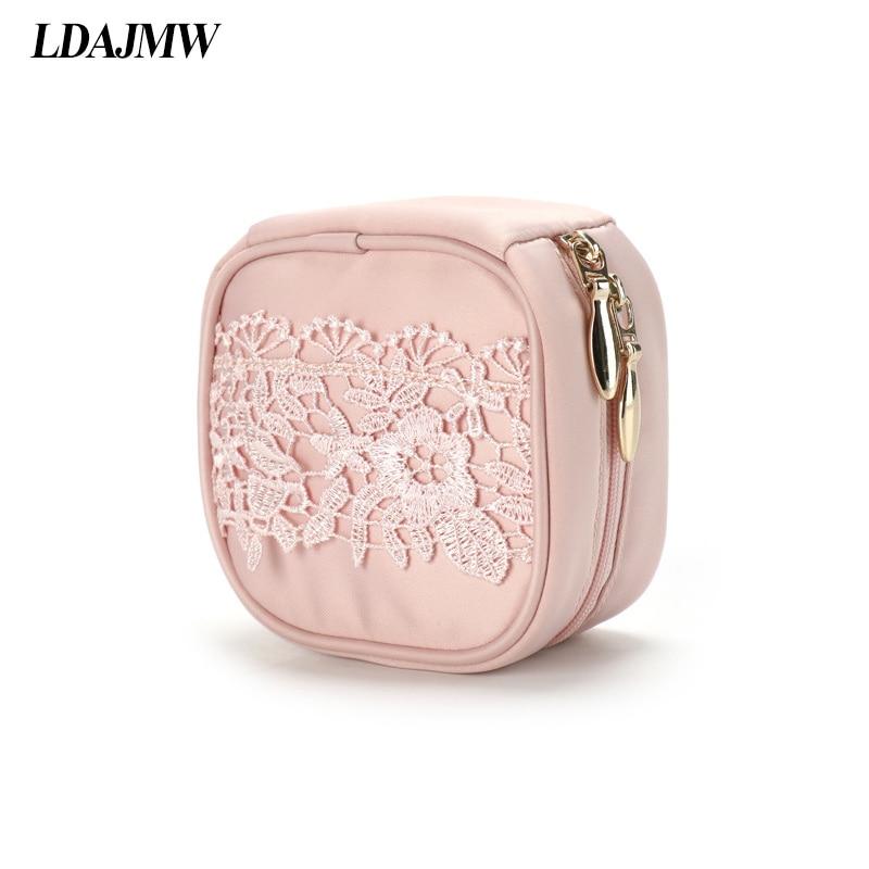 LDAJMW Travel Jewelry Organizer Princess Mini- Lace Jewelry Storage Bag Jewelry Box Earrings Ear Nail Ornaments Case