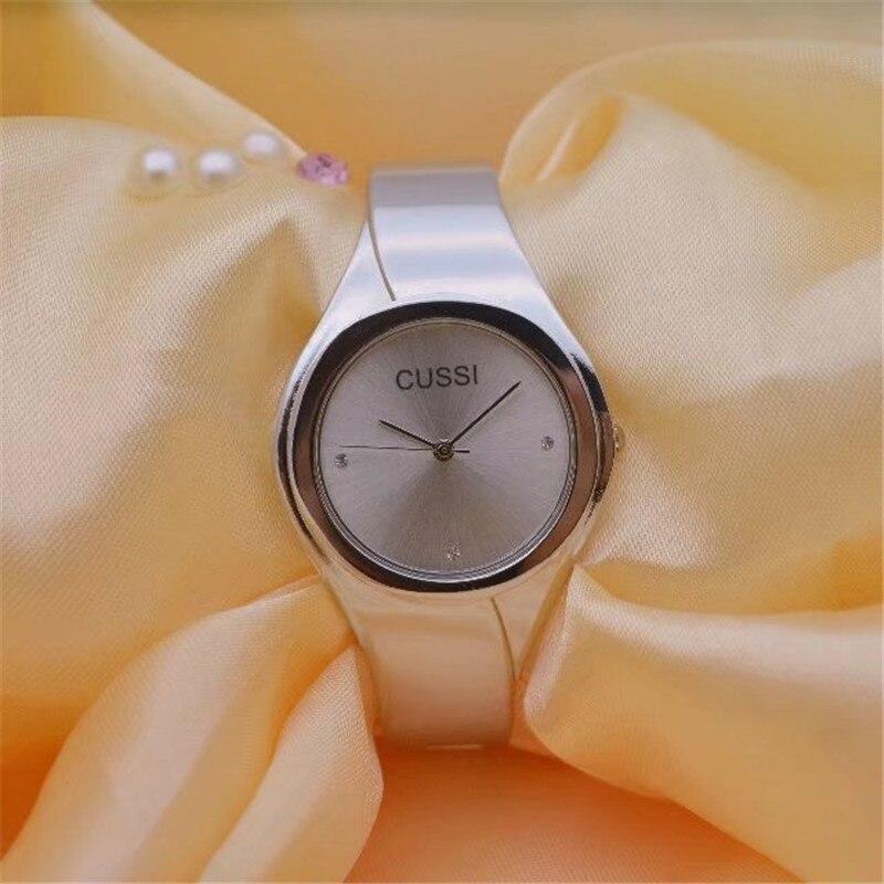 CUSSI Golden Womens Bracelet Watches TOP Brand Luxury Ladies Dress Watches Quartz Wristwatches Clock Reloj Mujer Lover Gifts enlarge