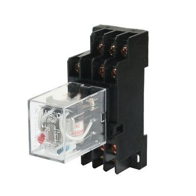 HH53P 220/240VAC bobina voltios relé de potencia de uso General w enchufe PYF11A