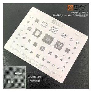 High quality For Samsung S9 S9+ G9600 G960F G965F Edge IC CHIP BGA Stencil Reballing Heating Template 0.12mm