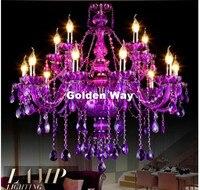 Modern European Chandelier Purple Crystal Lighting Modern Chandeliers Lustre de Crustal Light Home Decor K9 Crystal Chandelier