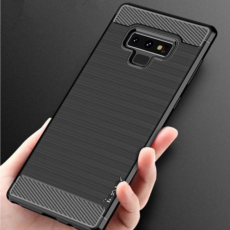 IPAKY TPU funda para Samsung Galaxy S 8 Nota 9 cubierta cepillado Coque carbono-silicona funda para Samsung S7 S8 S9 caso S7 borde