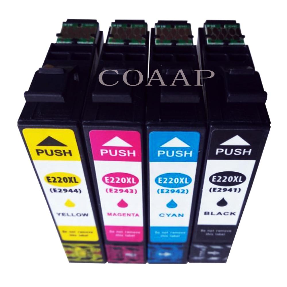 XP420 XP320 WorkForce impressora para T2941 T2945 T220XL compatível cartucho de tinta 4 pcs