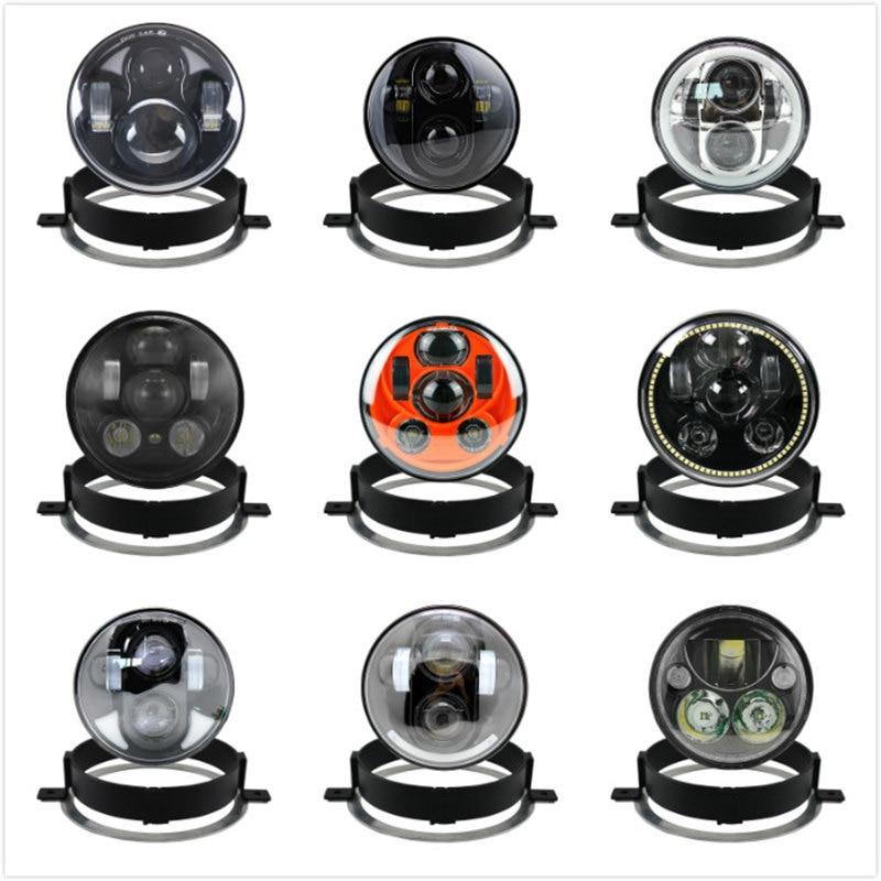 Para Honda 2006 VTX 1300C 1800 nuevos para Motor Trim Ring soporte de montaje anillo negro/cromo 5,75 pulgadas LED motocicleta faro