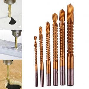 6 pièces/ensemble titane placage haute vitesse en acier forets charpentier travail du bois forage coupe rainurage scie forets ouvert-trou ensemble