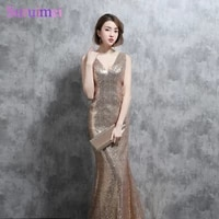 real photo sparkly gold sequines bridesmaid dresses mermaid sexy v neck with spaghetti straps v back long brides maid dresses