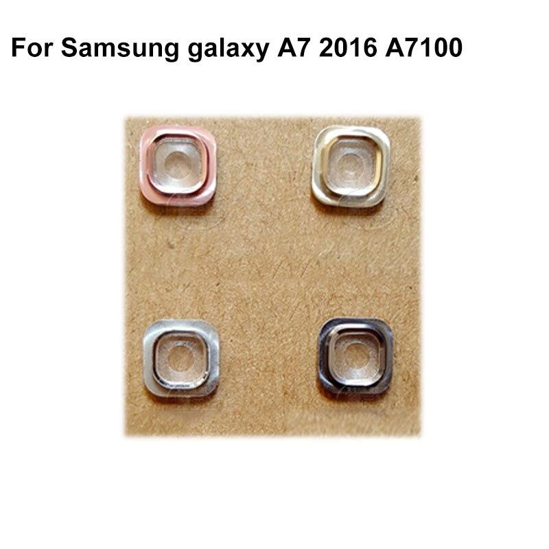 7 A7plus A710F A7108 A76 luz destello linterna lámpara de cristal de la lente y la cubierta para el modelo samsung galaxy A7 2016 A7100 de piezas de repuesto