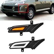 Smoked 2 in 1 LED Side Marker Indicator Light +Led Running Light for 07-10 Porsche Cayenne