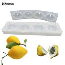 SHENHONG Pop 4 Holes Lemon Art Cake Mould 3D Silicone Decoration Mold Mousse Formy Baking Pastry Silikonowe Moule