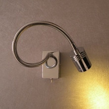 Topoch 2x Flexible Wall Lamps Pin-Up 3-Watt LED 200LM AC100-240V DC12-24V Narrow Beam Directional Lighting for Caravan Boat