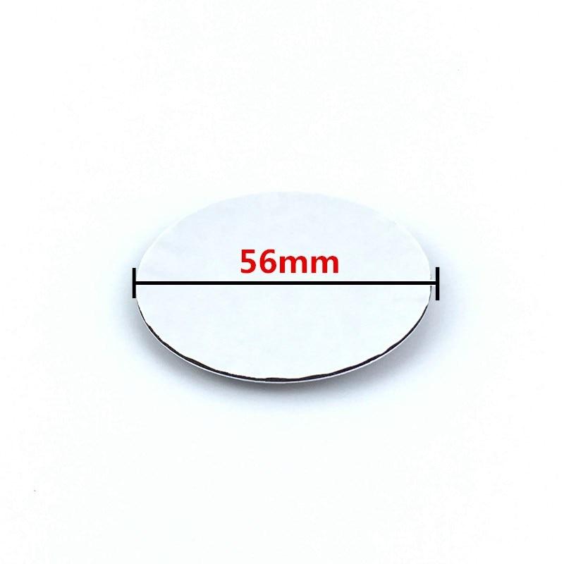 4pcs 56mm 65mm bule/black car sticker  ,wheel center hub caps badge for Golf Jetta Mk5 Passat B6 sticker styling