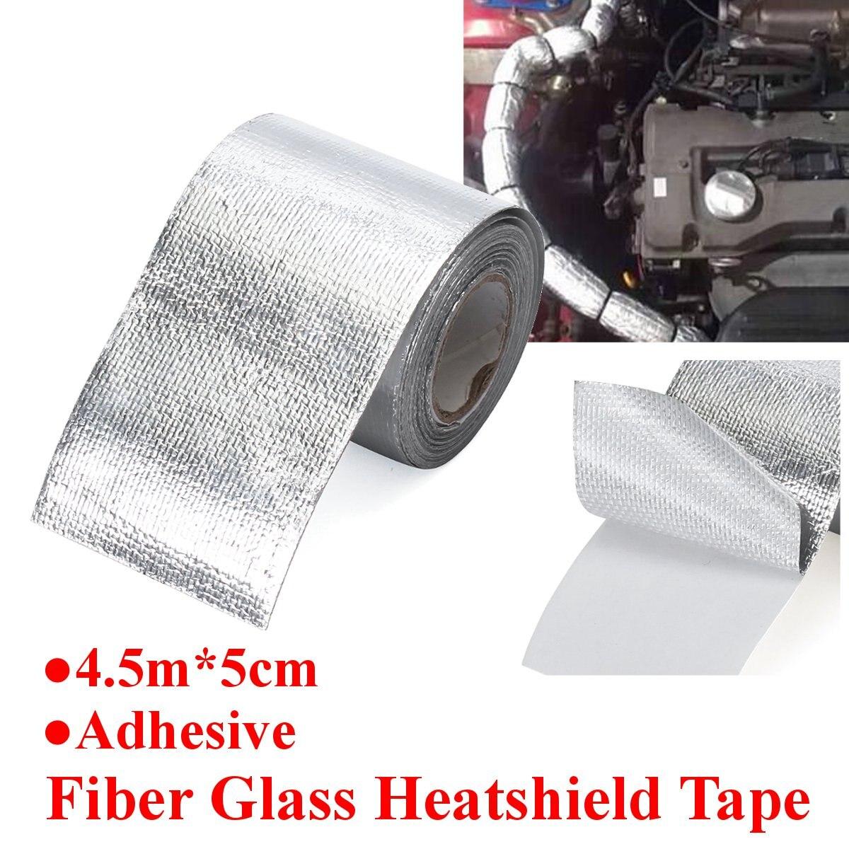 1 rolo Heatshield Fita De Fibra De Vidro Retardador de Chama de Calor Escudo Adesivo Auto Thermoshield Reflexivo Tira de Fibra de vidro Envoltório De Calor