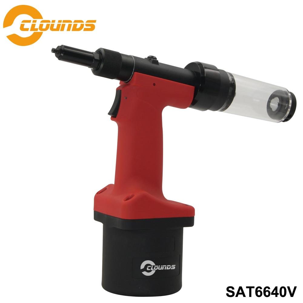 مسدس برشام هوائي SAT6640V ، أداة برشام أظافر صناعية ، متعدد الأغراض ، قوة سحب 6850N
