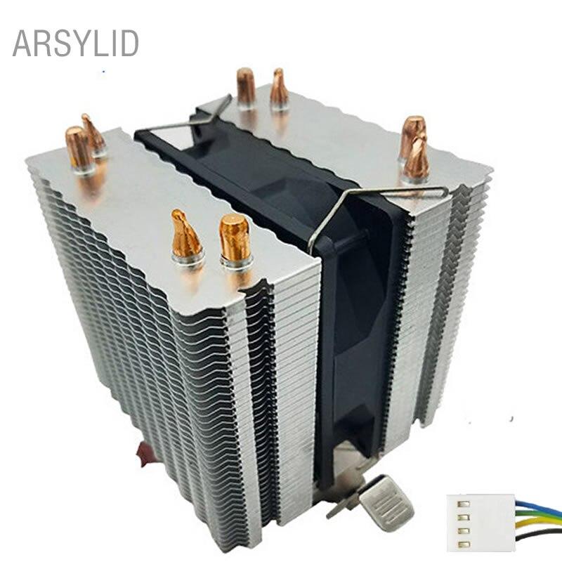 Arsycover-مروحة تبريد وحدة المعالجة المركزية مع أنابيب حرارية 4pin ، مروحة تبريد 9 سنتيمتر لـ Intel LGA775 1151 1366 2011 ، مروحة تبريد AMD AM3 AM4