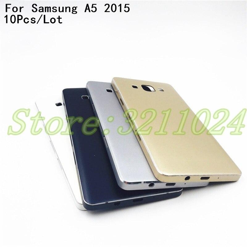10 unids/lote de repuesto de la cubierta de la batería para Samsung Galaxy A5 2015 A500 A5000 SM-A500F cubierta trasera de la batería