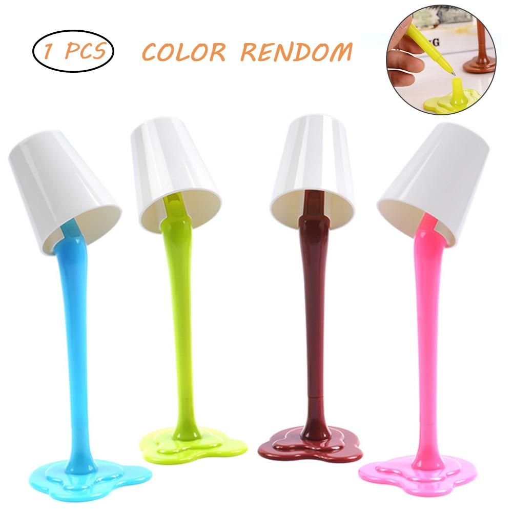 Lámpara de escritorio 2 en 1, bolígrafo de mesa reemplazable, lámpara de escritorio, bolígrafo LED, herramientas Kawaii divertidas para la escuela