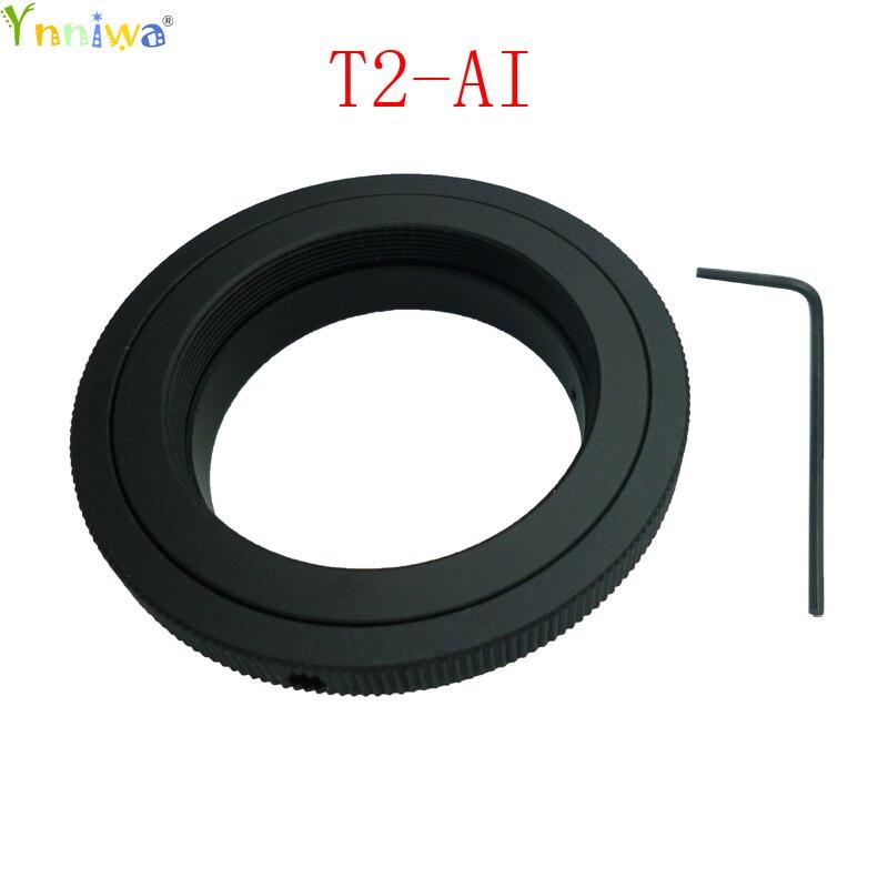 10 قطعة/الوحدة T2-AI T2 T عدسة ل نيكون جبل محول حلقة ل D50 D90 D5100 D7000 D3 DSLR SLR كاميرا