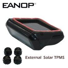 EANOP S600 voiture solaire TPMS   Système de surveillance de la pression des pneus LCD capteur externe de pression des pneus, outil de Diagnostic de la barre PSI