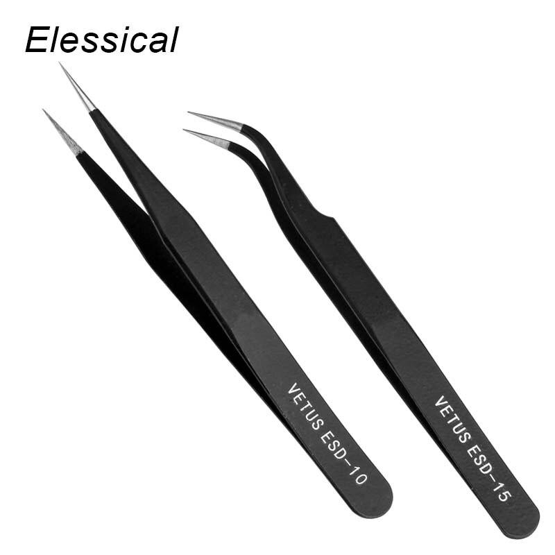 Черные изогнутые пинцеты для ногтей, пинцет для дизайна ногтей, инструмент для маникюра