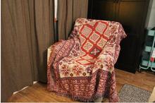 100% Cotton red kilim Throw Blanket Towel bedspread bedding set quilt sheet sofa blanket on the bed carpet