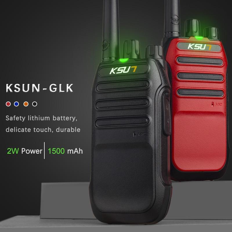Amplificador barato KSUN KSX30-GLK UHF 400-470 MHz. Amateur Radio de banda Dual Mini-Radio jamón Walkie Talkie
