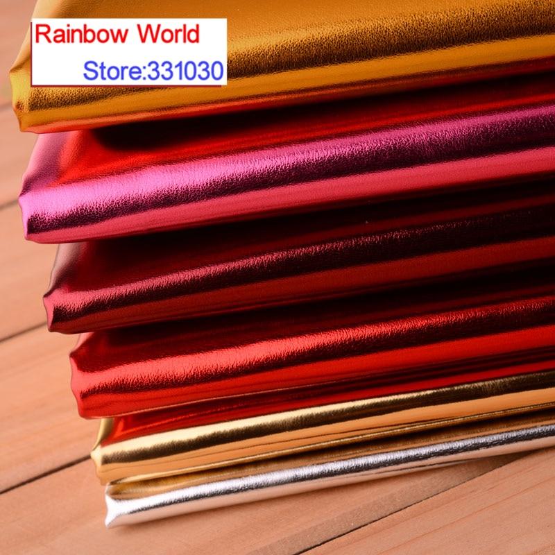 Tela de cuero de poliuretano brillante de alta calidad para costura para...