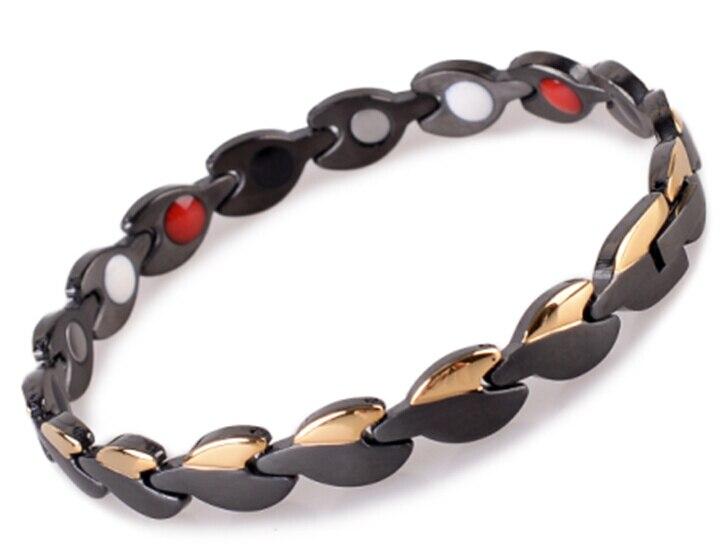 Mode Herren 4 in 1 Bio edelstahl armband mit germanium, magnet, infrarot, ionenenergie Gesundheit Magnetfeldtherapie