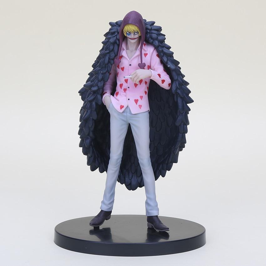 Figura de acción de 17cm de Anime de una pieza de corazón ideal para mi corazón figura de acción de PVC hermano doflamingo juguete de modelo de colección