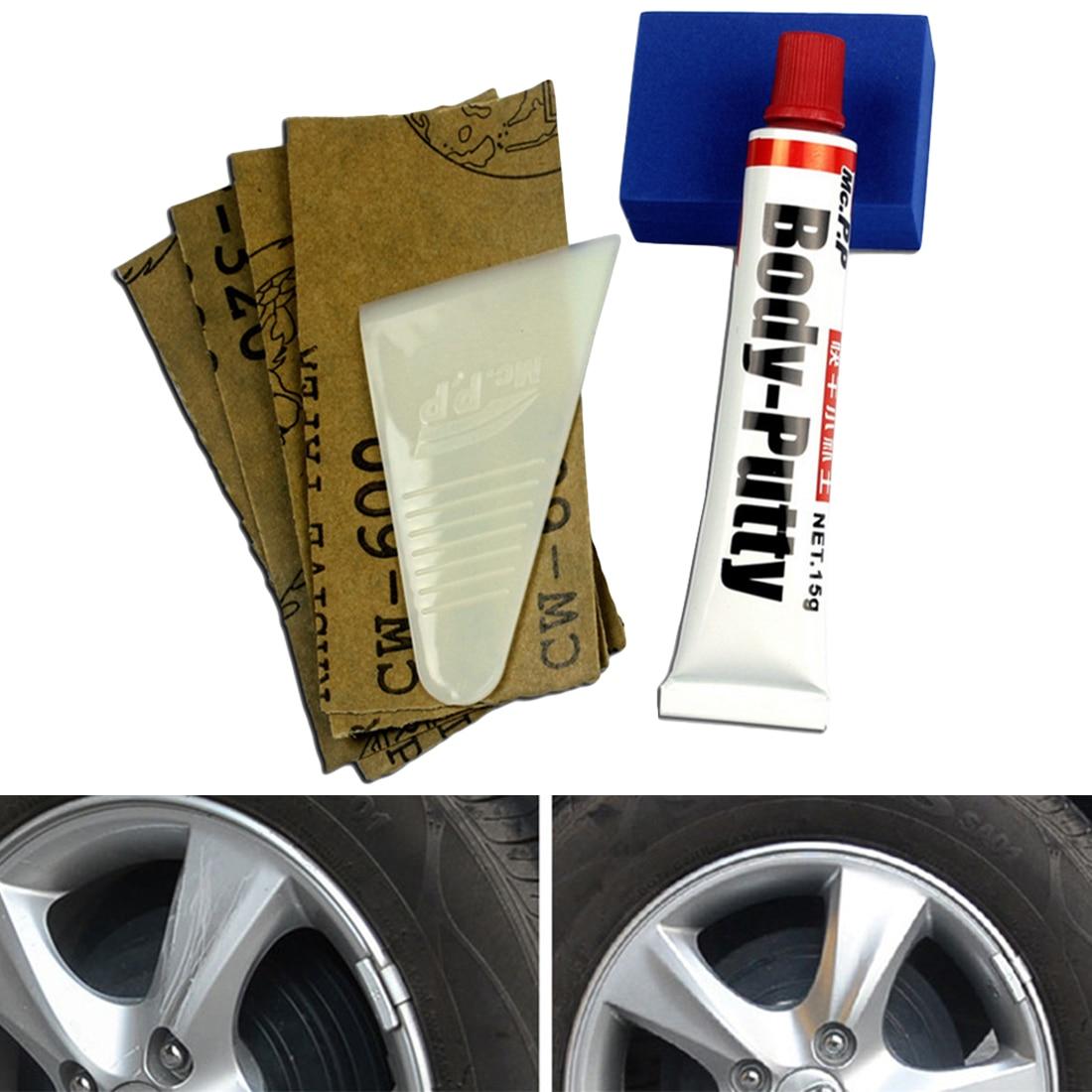 Bu-bauty, fondo reparador para arañazos, superficie de pintura de imprimación de coche, productos para el cuidado de la piel del coche, conjunto de pasta, recubrimiento de arañazos, compuesto de pulido automático