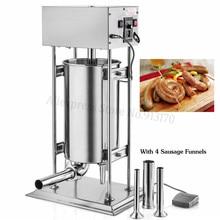 Remplisseur automatique de saucisse dacier inoxydable de 30 litres remplisseuse de Salami 220 V/110 V remplisseur de saucisse 120 W