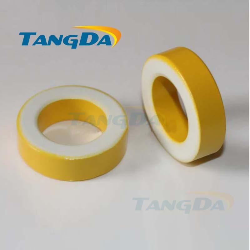 KT141-26 الحديد مسحوق النوى T141-26 OD * ID * HT 36*22*11mm 75nH/N2 75ue الحديد الغبار الأساسية الفريت حلقي حلقية الأساسية الأصفر الأبيض