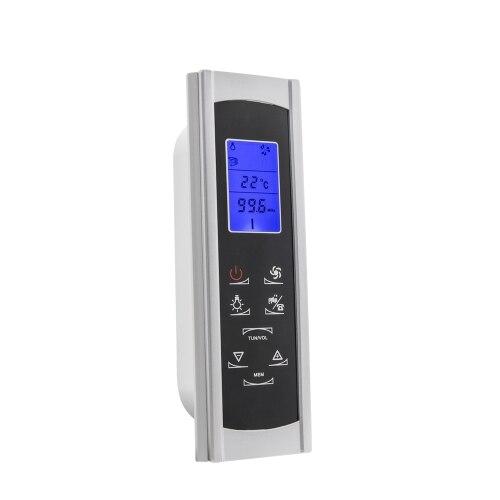 CE/Rohs AC 12V pantalla LCD inteligente ducha FM Radio Panel de Control con Sensor de temperatura cuarto de Ducha
