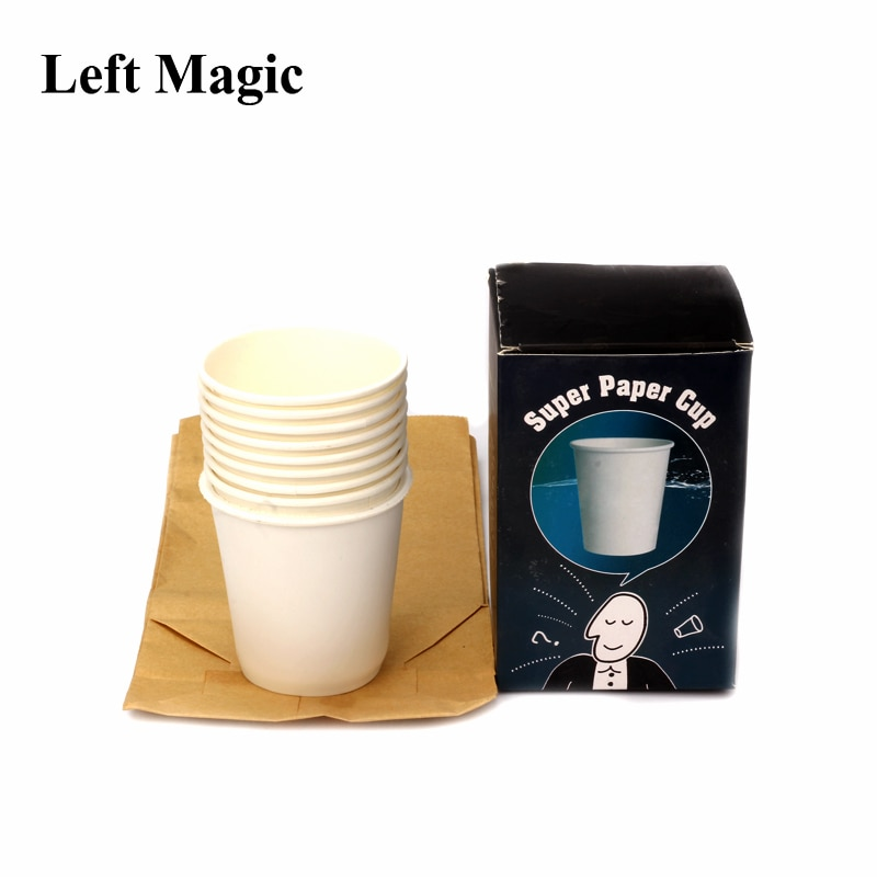 Super Paper Cup Magic Tricks Cup Appear From Bag Magic Props Paper Comedy Stage Close Magic Street Magic Show G8134 недорого