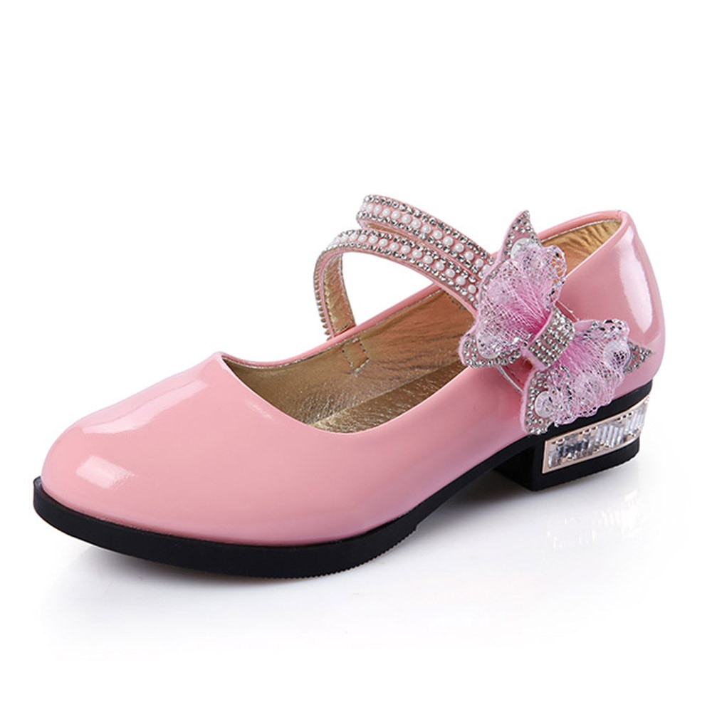 Primavera 2017, zapatos de princesa para niñas, calzado para niñas, zapatos de cuero de cristal para niñas, zapatos coreanos para niños asakuchi PX101