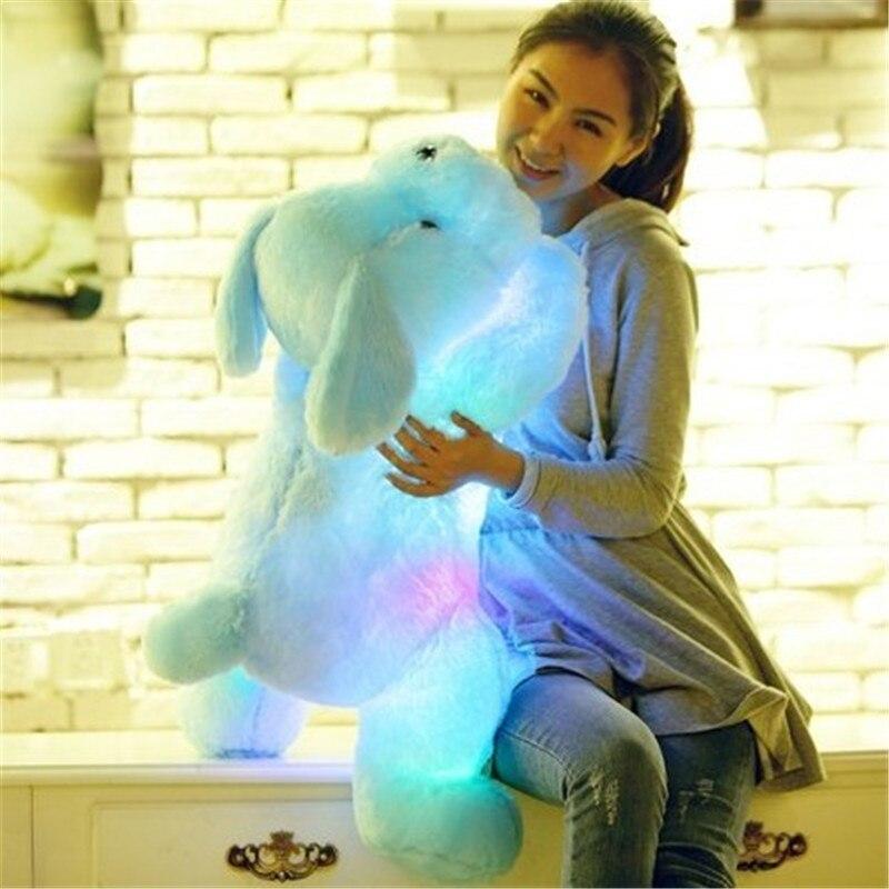 Muñeco de peluche de 50cm luminoso perro 3 colores LED brillante perros juguetes para niños Regalo de Cumpleaños envío gratis