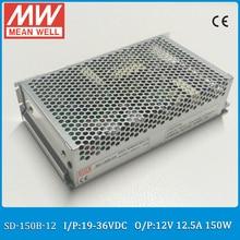 Original MEAN WELL SD-150B-12 19-36VDC meanwell Single Output 150 W 12.5A 12 V Entrada dc/dc converter